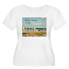 LIFE'S BETTER AT THE BEACH Plus Size T-Shirt