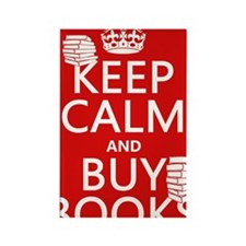 Keep Calm and Buy Books Rectangle Magnet