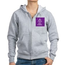 Keep Calm and Buy Fabric Zipped Hoodie