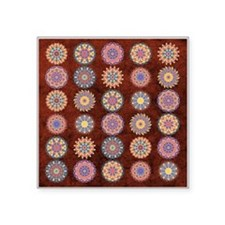 "Multiple Kaleidoscopes Square Sticker 3"" x 3"""