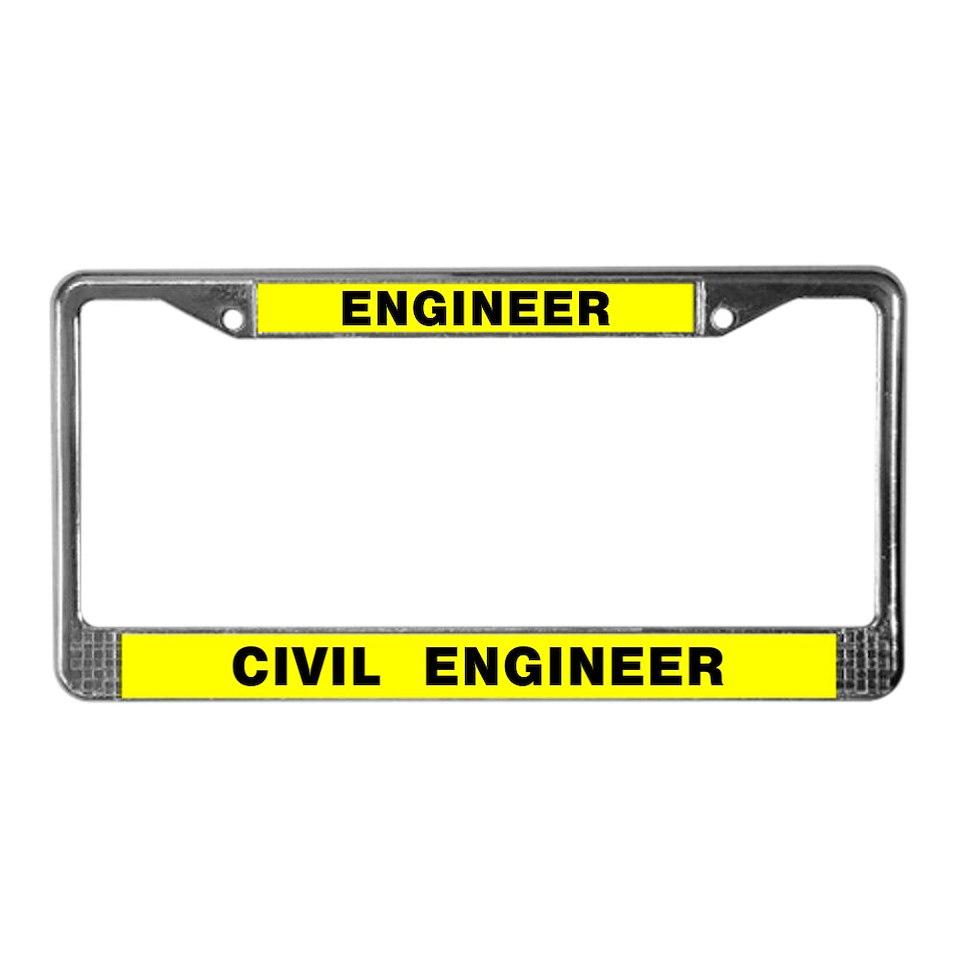 Civil Engineer License Plate Frame  Buy Civil Engineer Car License