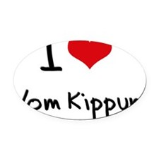 I love Yom Kippur Oval Car Magnet