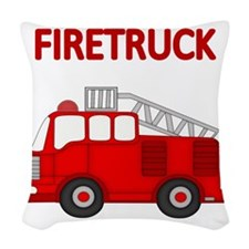 FIRETRUCK Woven Throw Pillow