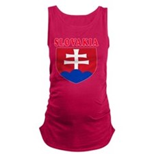 Slovakia Coat Of Arms Designs Maternity Tank Top