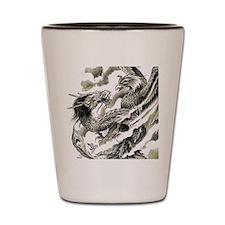 Dragon  Phoenix Tattoo Flip Flops Shot Glass