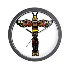 Tribal Totem Pole Wall Clock