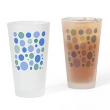 Blue and Green Dots Drinking Glass