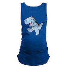 Playful Baby Dino Maternity Tank Top