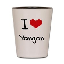 I Heart YANGON Shot Glass