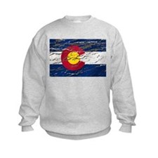 Colorado retro wash flag Kids Sweatshirt