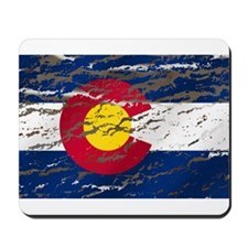 Colorado retro wash flag Mousepad