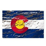 Colorado retro wash flag Postcards (Package of 8)