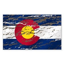 Colorado retro wash flag Rectangle Decal