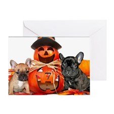 Halloween French Bulldogs Greeting Card