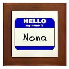 hello my name is nona  Framed Tile