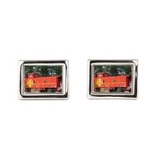 Santa Fe Railway Train Caboose, Williams Cufflinks