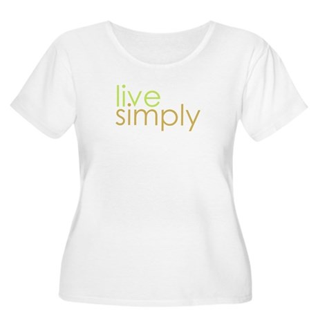 live simply Women's Plus Size Scoop Neck T-Shirt
