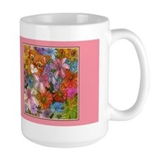 Cat Among the Flowers Mug