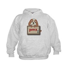 Customisable Cute Puppy Dog with Signboard Hoodie