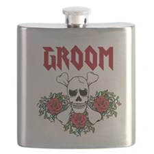 Groom Skull and Roses Flask