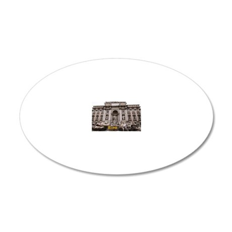 Rome_11x9_TreviFountain 20x12 Oval Wall Decal