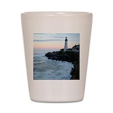 Portland Head Lighthouse at Sunset Shot Glass