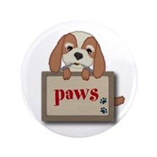 "Customisable Cute Puppy Dog with Signboard 3.5"" Bu"