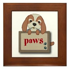Customisable Cute Puppy Dog with Signboard Framed