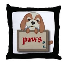 Customisable Cute Puppy Dog with Signboard Throw P