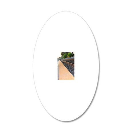 Ventura Train Station 20x12 Oval Wall Decal