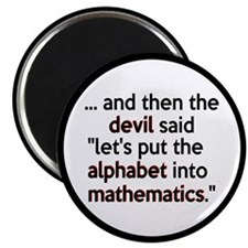 Mathematics Has The Alphabet Magnet
