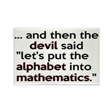 Mathematics Has The Alphabet Rectangle Magnet