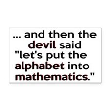 Mathematics Has The Alphabet Rectangle Car Magnet