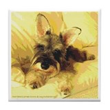 All Ears! Schnauzer Tile Coaster