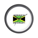 Jamaica Me Crazy! Wall Clock