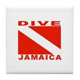 Dive Jamaica Tile Coaster