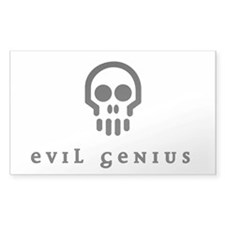 Evil Genius sticker [white]