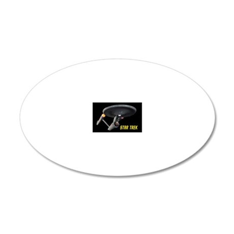 Poster Quality TOS Enterpris 20x12 Oval Wall Decal