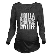J DILLA CHANGED MY L Long Sleeve Maternity T-Shirt