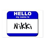 hello my name is nikki  Postcards (Package of 8)
