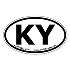 Kentucky, USA Oval Bumper Decal