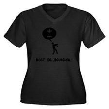Trampoline-C Women's Plus Size Dark V-Neck T-Shirt