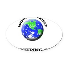 World's Sexiest Bookkeeping Clerk Oval Car Magnet