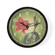 Redoute Amaryllis Wall Clock