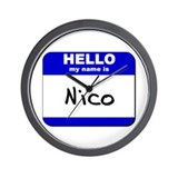hello my name is nico  Wall Clock