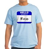 hello my name is nico T-Shirt