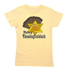 Merry Thanksgivukkah Girl's Tee