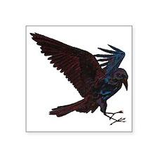 "Odin's Raven Square Sticker 3"" x 3"""