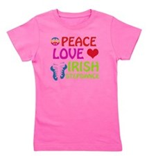 Peace Love Irish Stepdance Girl's Tee