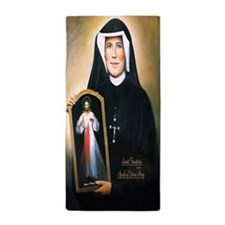 Saint Faustina Apostle of Divine Mercy Beach Towel